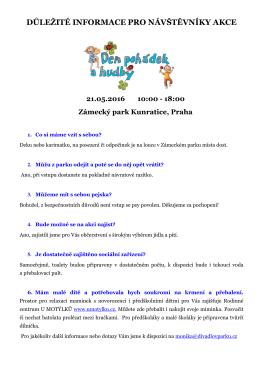 Info pro návštěvníky