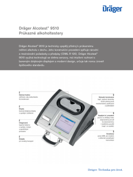 Product information: Dräger Alcotest 9510