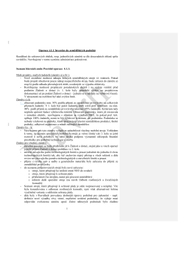 Návrh hlavních změn Pravidel 4.1.1 pro 3. kolo