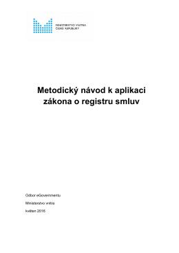 Metodický návod k aplikaci zákona o registru smluv