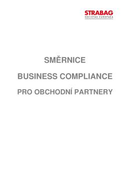 Business Compliance pro obchodní partnery