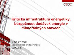 Vrba Miroslav: Kritická infrastruktura energetiky - Top