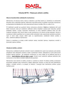 Údržba a užívání - RASL čalouněný nábytek