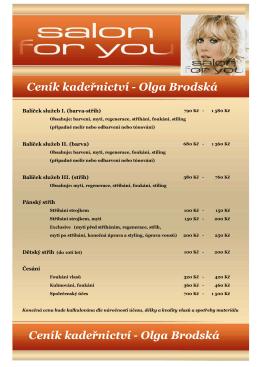 Brodská ceník - Salon For You