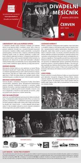 DIVADELNí MěSíČNíK - Severočeské divadlo v Ústí nad Labem