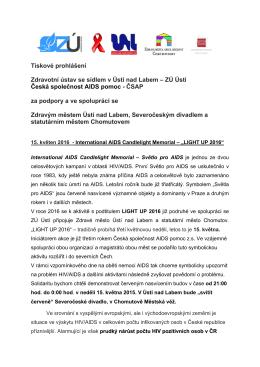 tisková zpráva zde - Zdravotní ústav se sídlem Ústí nad Labem