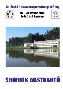 Sborník - Česká parazitologická společnost