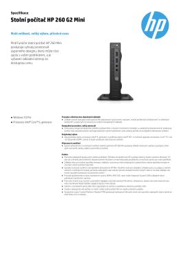 Stolní počítač HP 260 G2 Mini