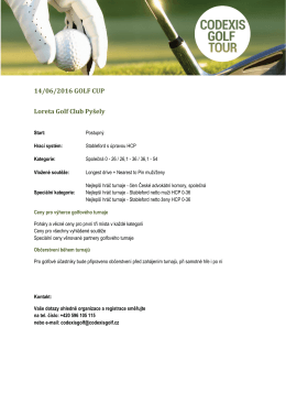 14/06/2016 GOLF CUP Loreta Golf Club Pyšely