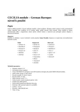 CECILIA module – German Baroque: návod k použití