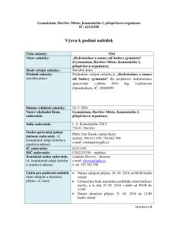 pdf, 405 kB - Gymnázium, Havířov