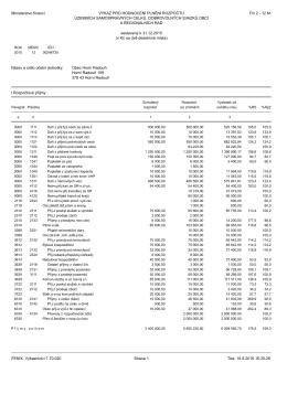 Výkaz plnění rozpočtu FIN 2015