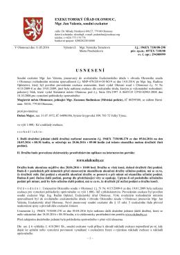 Usnesení, čj.: 196EX7330/08-298