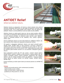 ANTIDET Relief - VST engineering