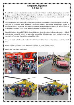 Den požární bezpečnosti 3.A, 3.B, 3.C, 2016