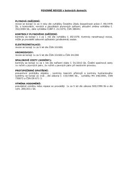informace o povinných revizích