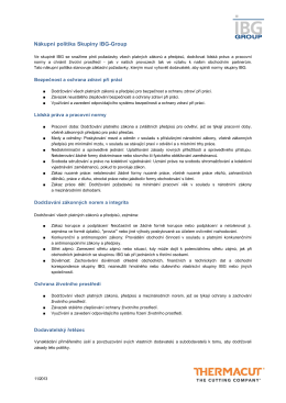 Nákupní politika Skupiny IBG-Group