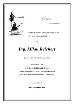 Ing. Milan Reichert