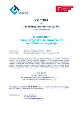 VUT v Brně a Technologické centrum AV ČR
