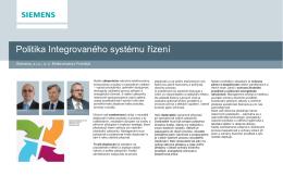 Politika Integrovaného systému řízení