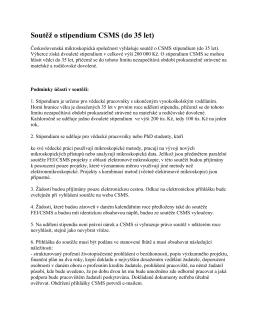 Soutěž o stipendium CSMS (do 35 let)
