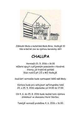chalupa - ZŠ Vedlejší
