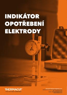 indikátor opotřebení elektrody
