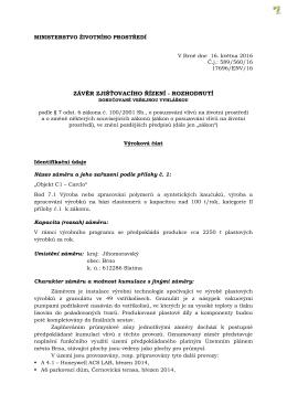 ministerstvo životního prostředí - Úřední deska
