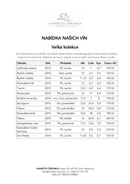 Stáhnout ceník v PDF - Vinařství Červinka