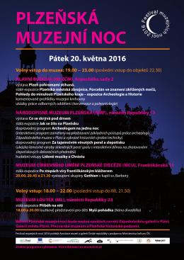Plakát s programem - Asociace muzeí a galerií v České republice