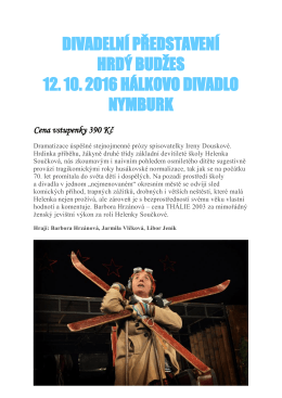 Hrdý Budžes (Hálkovo divadlo, 12. 10. 2016)