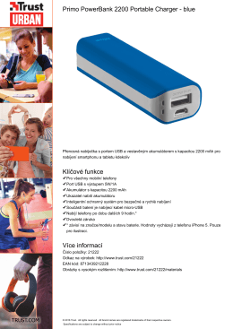 Primo PowerBank 2200 Portable Charger