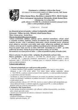 V Kutné Hoře dne 28 - Městský úřad, Kutná Hora