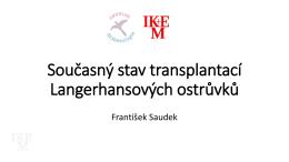 Transplantace ostrůvků