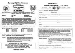 propozice - Dobrman Klub České republiky