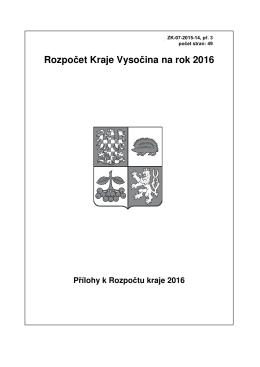 Přílohy k rozpočtu kraje 2016