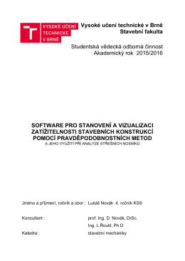 Software pro stanovení a vizualizaci zatížitelnosti