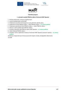 Podrobný program zasedání - Místní akční skupina Opavsko