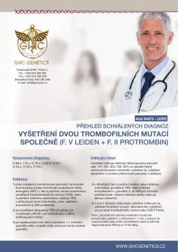Přehled schválených diagnóz