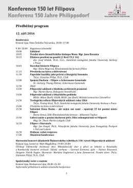 Konference 150 let Filipova