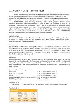 ASEPTOPRINT® Liquid - Návod k použití