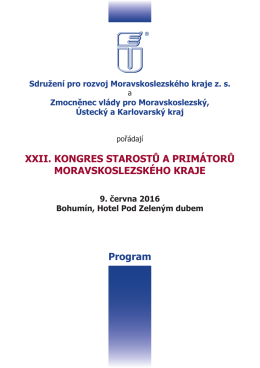 P R O G R A M - Sdružení pro rozvoj Moravskoslezského kraje