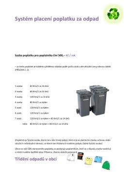 Systém placení poplatku za odpad