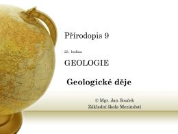 25. Vnitřní geologické děje