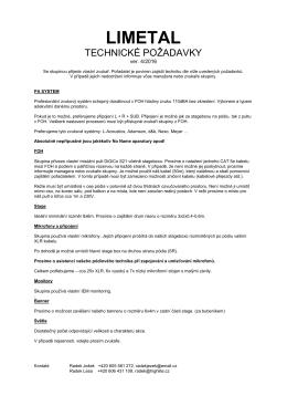 Technické požadavky (rider)