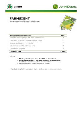 FarmSight AMS - STROM PRAHA as