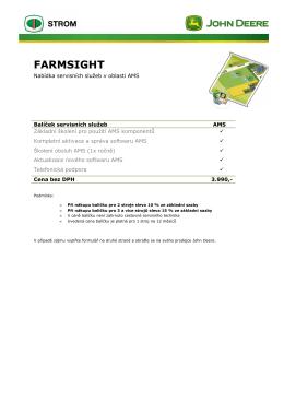 FarmSight AMS - STROM PRAHA as