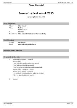 Závěrečný účet za rok 2015