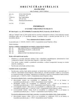 STAV/2265/2016/Bí Informace o návrhu VPS Bv blavit spol. s.r.o.