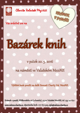 Pozvánka - Charita Valašské Meziříčí